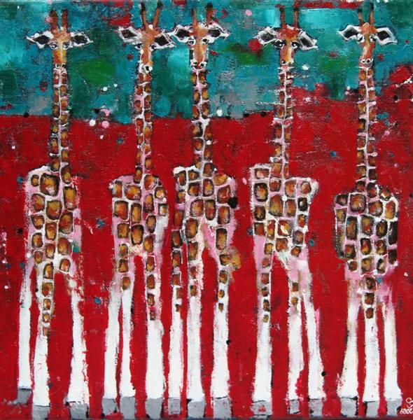 5_hot_giraffes.30x30cm