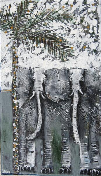 Bus_Stop_Elephants_27x14cm