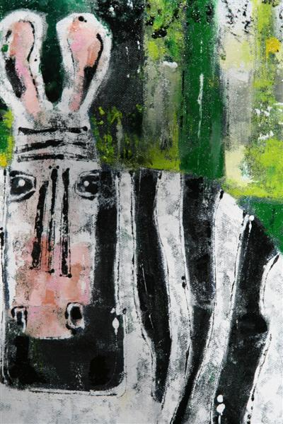 Football_Zebras_60x60cm_detail