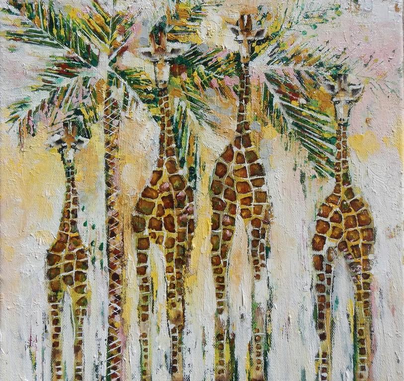 giraffes.30x30cm