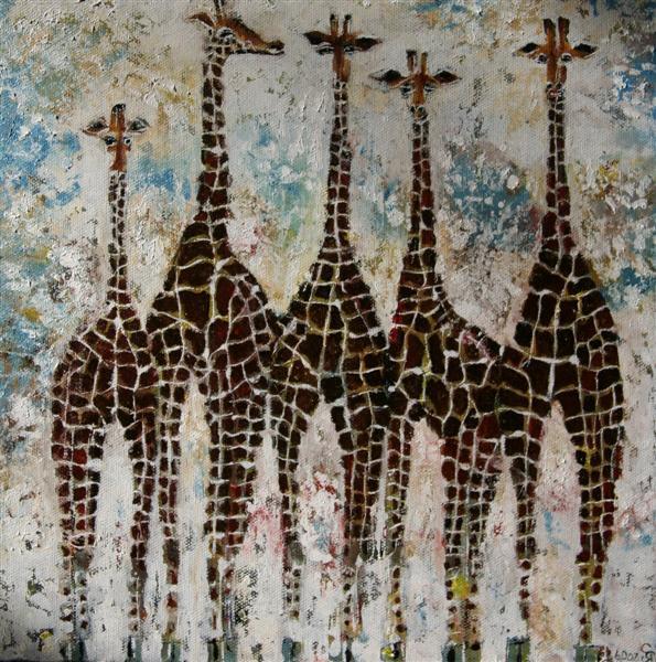 giraffes_30x30cm