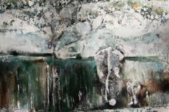 Elephantsinthemist_70x70cm