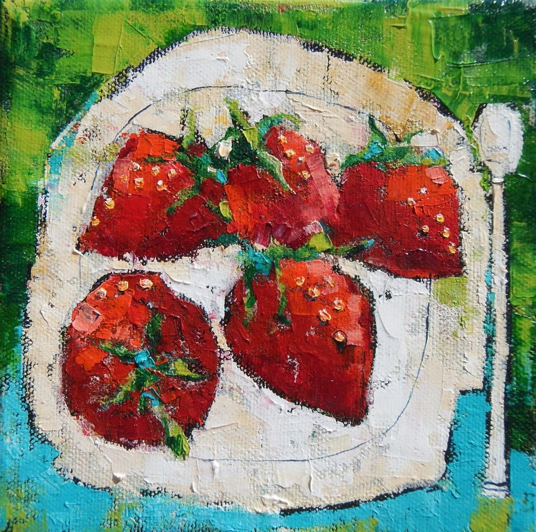 strawberries 15x15cm