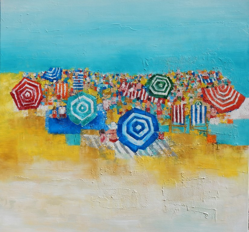 The Beach 90x90cm
