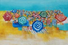 The Beach 90x90cm