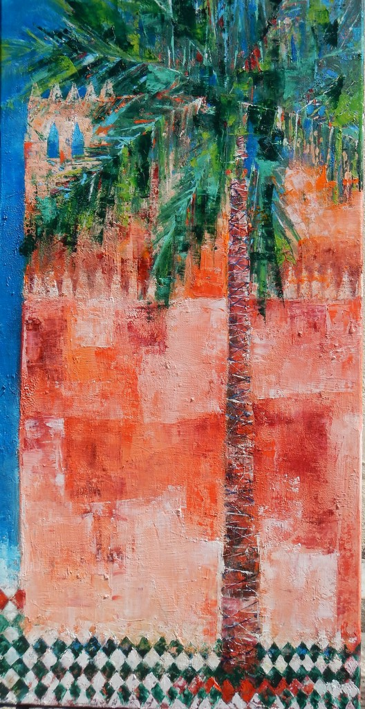 Tombeaux Saadiens.Marrakesh.50x100cm
